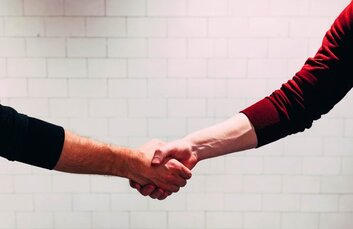 Shaking hands as a long-term tenant